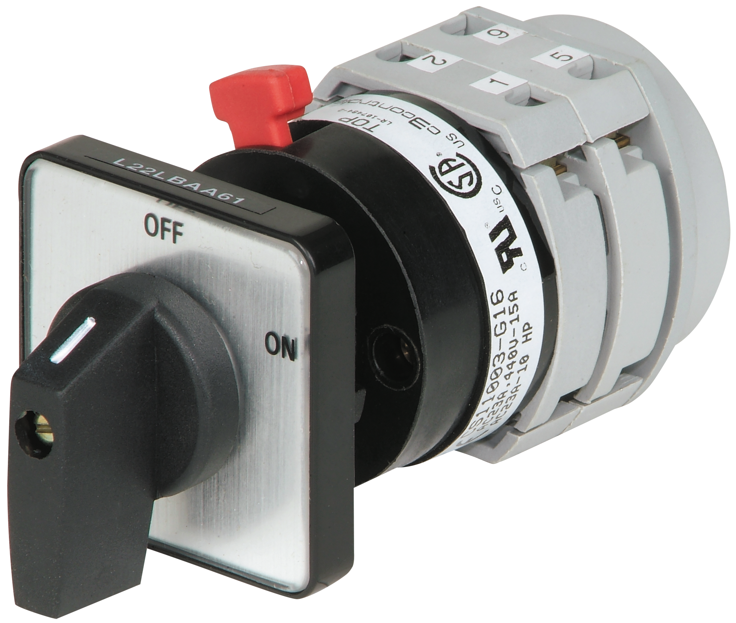 Key Operated Rotary Switch on-off